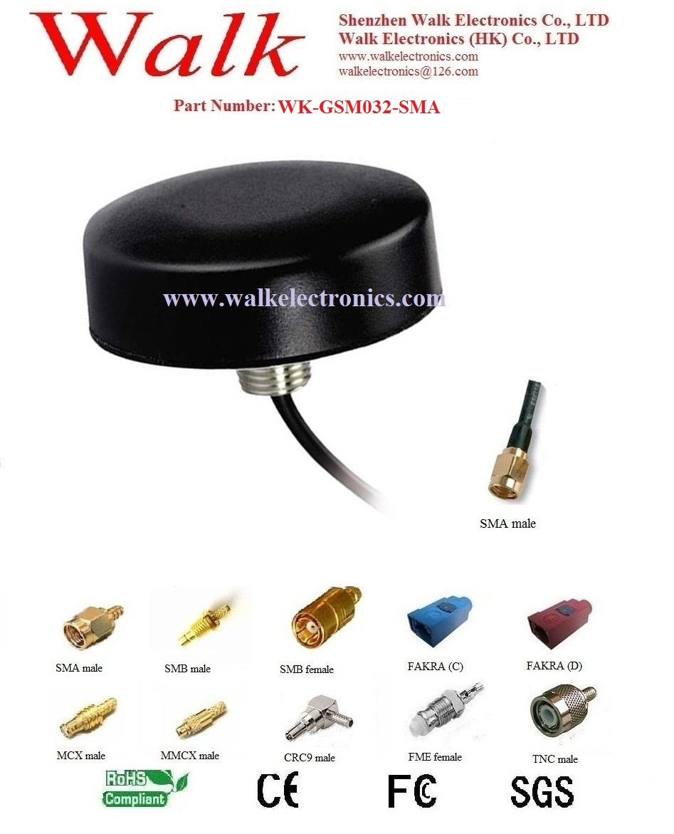 small size screw mount GSM Antenna, 3g antenna, gprs antenna, quad band antenna, sma male connector(China (Mainland))