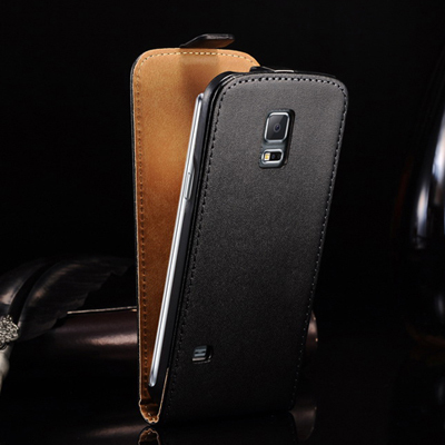 Luxury Genuine Leather Case for Samsung Galaxy S5 Mini G800 Flip Style Phone Bag Cover For Galaxy S5 Mini Protective Case(China (Mainland))