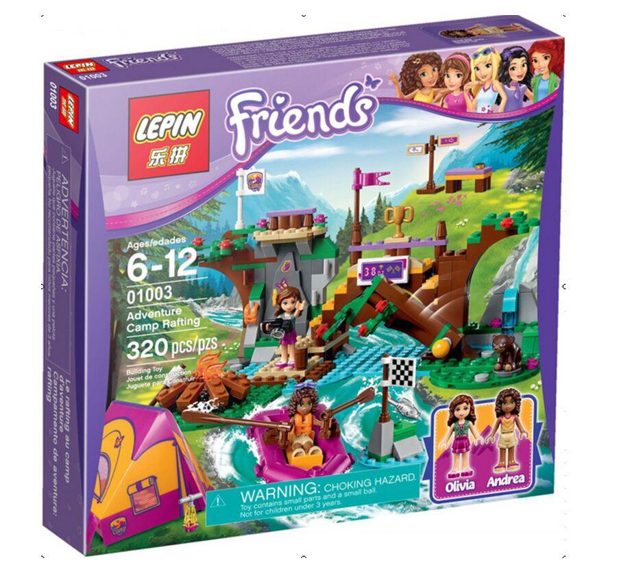 2016 New 01003 320Pcs Friends Adventure Camp Rafting Model Building Legoelieds Kits Minifigures Blocks Brick Girl Toy With41121(China (Mainland))