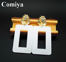 New Summer style gold plated big Brand Comiya punk rock drop earrings for women 2015 bijoux innovative items brincos jewelry exo