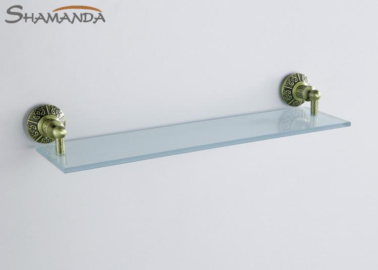 2016 venda frete grátis latão europeia e vidro Bronze acabamento prateleiras do banheiro prateleira único, Produtos de banho acessórios-89015(China (Mainland))