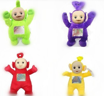 """Wholesale 13"""" New Lovely Teletubbies Plush Doll Stuffed Toys 4 Colors Baby Best Friends Toy 100pcs/Lot Ems Free Shipping"""