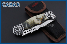 Cabar 2015 New Arrival 90mm Single Blade Hunting Camping Diving Outdoor Knife Top Quality Blade Free