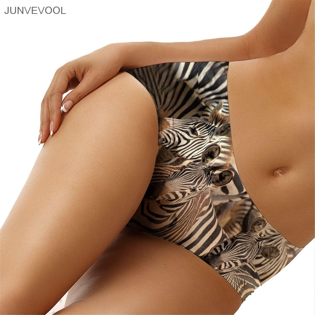 Women Underwear 2017 Knickers 3D Zebra Printing Animal Tattoo Underpants Sexy Knickers Panties Lingerie Briefs Underwear(China (Mainland))