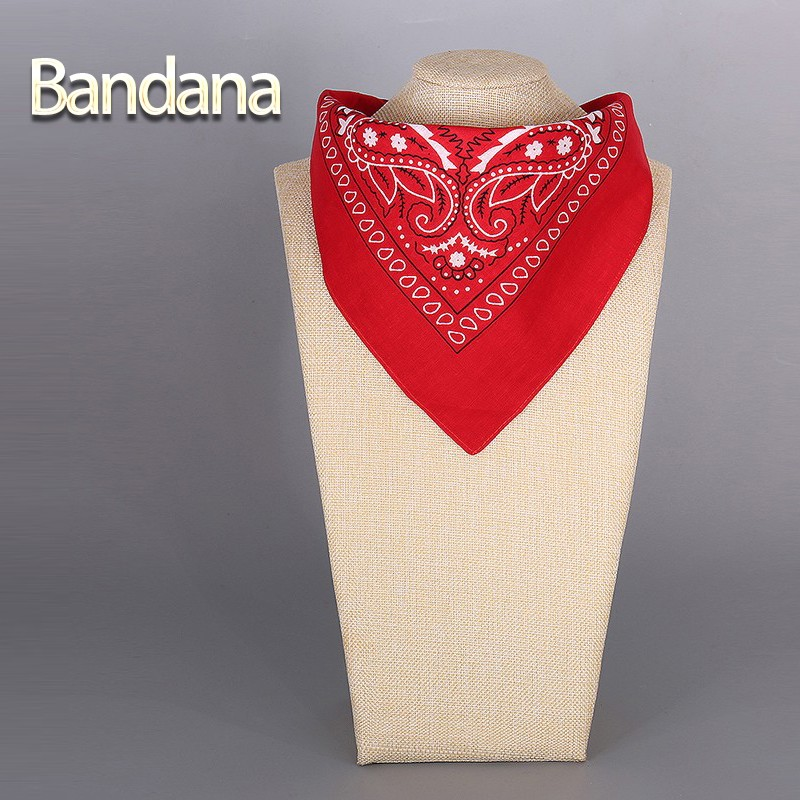 2016 Cotton Bandana Scarf Square Head Scarf Women Men Fashion Bicycle Bandana Motorcycle Female Bandanas Headwear Scarves Hijab(China (Mainland))