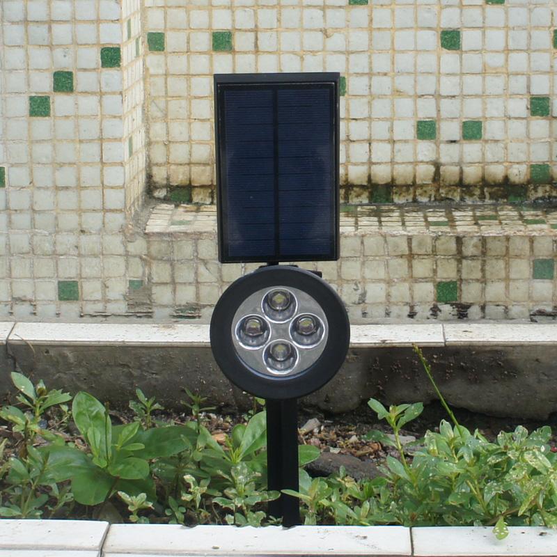 Solar lamp lampe solaire 4 led solar light outdoor - Lampe solaire decorative exterieure ...