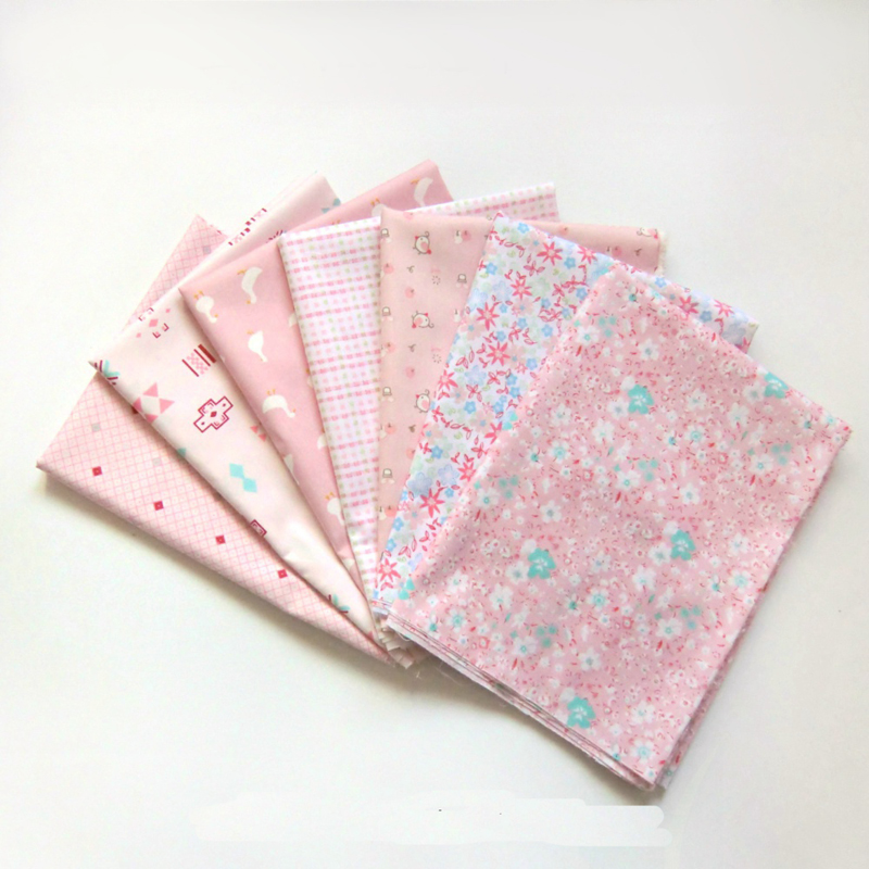 Pink floral checks cartoon algodon material sewing 100 for Fabric for children s clothes
