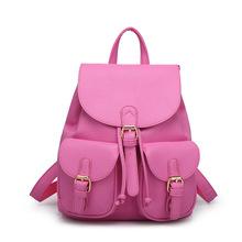 2016 Designer Men Backpacks Pu Leather  School Bag For Teenagers Black Women Backpack Travel  Feminina