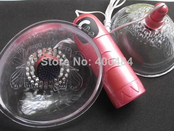 Adult Games Dual Cup Rotation Nipple Teaser Stimulator Breast Enhancer Pleasure Massage Massager Adult Sex Toys(China (Mainland))