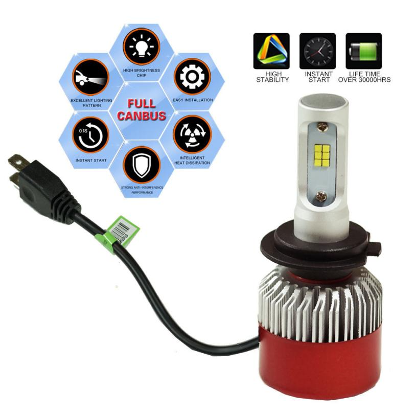 Car-styling H7 120W LED Headlight KIT High Power Replace Halogen Xenon 12000LM 525