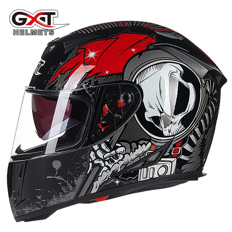 gxt 358 moto helmet anti fog dual lens full face motocross helmet vintage motorcycle helmet