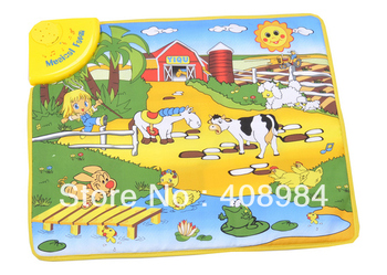 free shipping Children  multi-function game music carpet,Large farm blanket toy baby educational toys