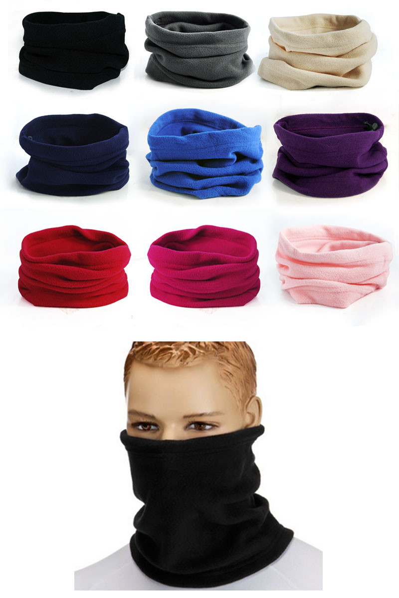 2016 New 3 in 1 Men Women Unisex Polar Fleece Snood Hat Neck Warmer  Face Mask Cap Winter bonnet Scarf Beanie Balaclava Z1
