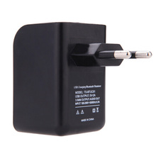 2016 New Mini 3.5mm Bluetooth Audio Music Receiver Adapter with USB EU Wall Charger free shipping