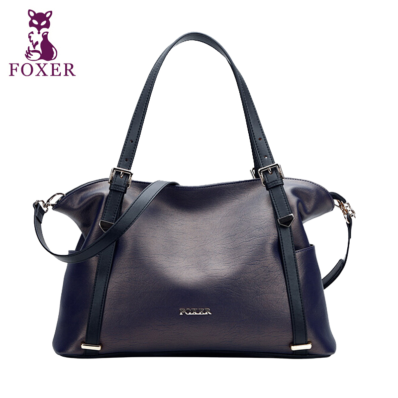 Top Quality Genuine Leather Bag FOXER Brand Fashion Handbags Womens Bags Casual Cowhide Shoulder Messenger Bags<br><br>Aliexpress
