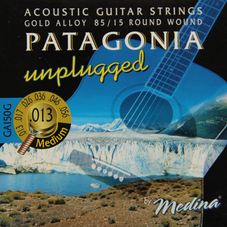 MAGMA Acoustic guitar strings unplugged - 85/15 Gold Alloy - Round Wound GA150G( .013-056) Medium(China (Mainland))