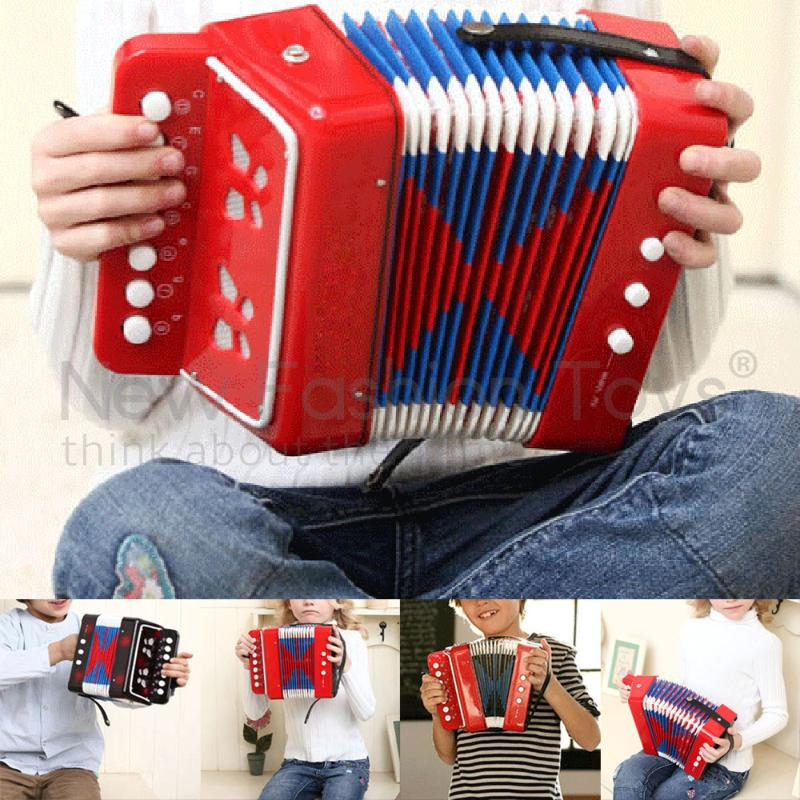 7 Keys 2 Bass Mini Small Accordion Educational Musical Instrument Toy Gift for Kids Children Black Brinquedos Xmas harmonic<br><br>Aliexpress