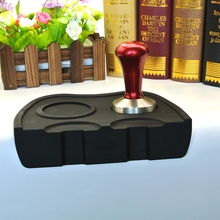 1 PC Free Shipping Espresso Coffee Tamper Silicone Rubber Tampering Corner Mat (without coffee tamper)