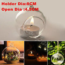 Candlestick Crystal Glass Hanging Candle Holder Romantic Wedding Dinner Decor (China (Mainland))