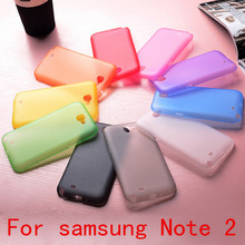 Free shipping 0.3mm Ultra Thin Slim Matte Frosted Transparent Clear Soft PP Cover Case For Samsung Galaxy Note 2 N7100 note2(China (Mainland))