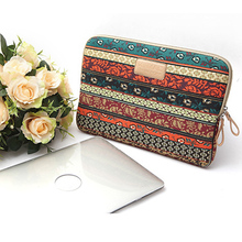"Bohemian Design 11 12 13 14 15.6 inch Cavas Laptop Bag Notebook PC Sleeve Case Pouch for woman for hp macbook sony 11.6"" 13.3""(China (Mainland))"