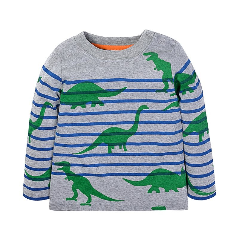 Boys T-shirt Kids Tees Baby Boy tshirts Children blouses Lovely Design Long Sleeve 100% Cotton Stripes Stars