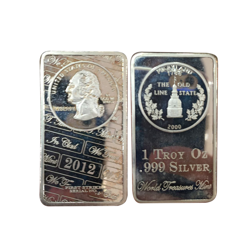 United of State Famous Person Imitation Silver Prices Precious Metals Bar With Plastic Cover(China (Mainland))