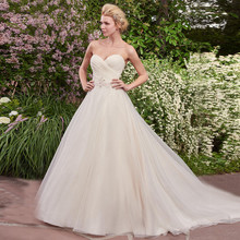 Buy Stock 2017 Sweetheart Ruched Bodice Beading Belt Ball Gown Wedding Dress White/Champagne Bridal Gowns for $102.00 in AliExpress store