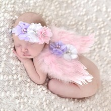 Free Ship Lovely Baby Boys Girls Angel Wings Wing Set Feather Butterfly Wings Newborn Photography Props Girls Hair Accessories(China (Mainland))