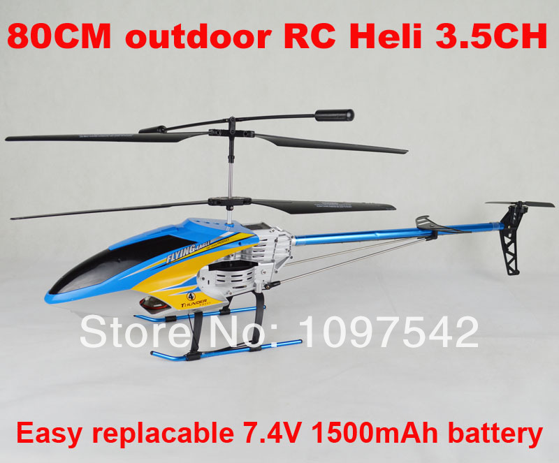 80cm helicopter with Gryo 3.5 Channel outdoor big RC Helicopter with camera(China (Mainland))