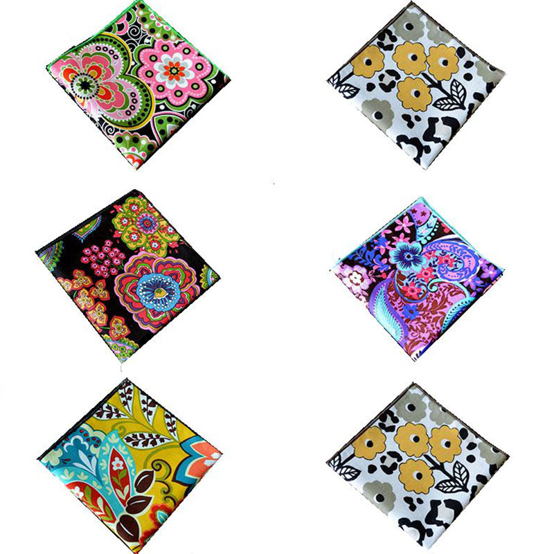 Formal Wear Business Suit Mens Pocket Square Handkerchief High Quality Cotton Printing Wedding Handkerchiefs Floral Chest Towel(China (Mainland))