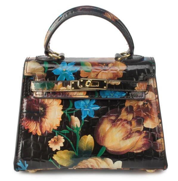 Super beautiful flower print mini handbag, luxury chain bag quality leather painting, graffiti catwalk models ladies bags women <br><br>Aliexpress