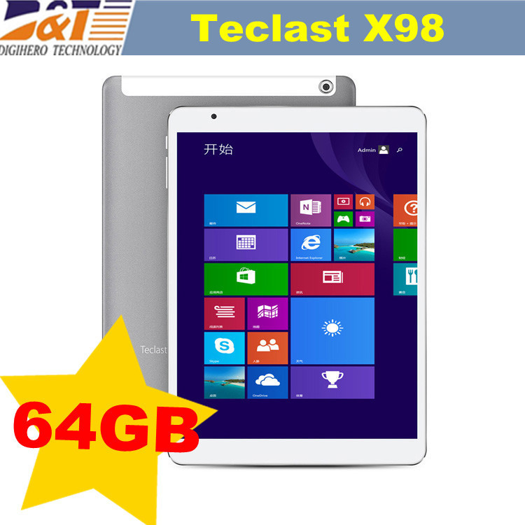 "Teclast X98 air 3G 9.7"" Dual OS Bay Trail-T Quad Core WIndows 8.1 + Android 4.4 Dual Boot 8500mAh HDMI GPS OTG Phone Call Tablet(China (Mainland))"