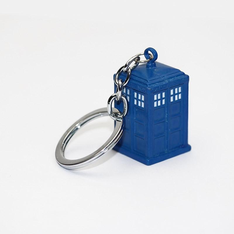 2014 New Fashion Punk Heavy metal Free shipping Doctor Who Police Box Blue Enamel 3D Tardis Keychain -Blue 12pcs/lot<br><br>Aliexpress