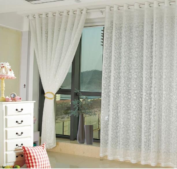 alta calidad rstica cortina de hilo de tul para ventana de deteccin semi sombra cortina para sala de estar dormitorio cotinas