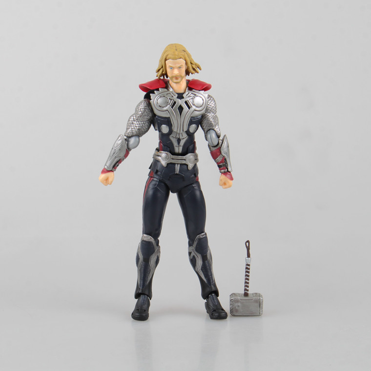 Marvel Shield America Anime Avengers Thor Hammer Superhero Figma Action Figure Toys Juguete 16cm PVC Kids Model 0197(China (Mainland))