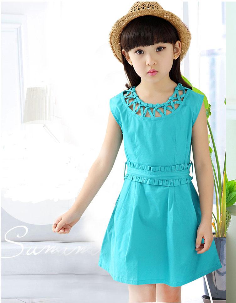 Style 2016 Summer Children Sleeveless Dress Girls Fashion Korean Princess Sundress Baby Kid Vest Teenager Clothing N74 - Girl's Beautiful Wardrobe store