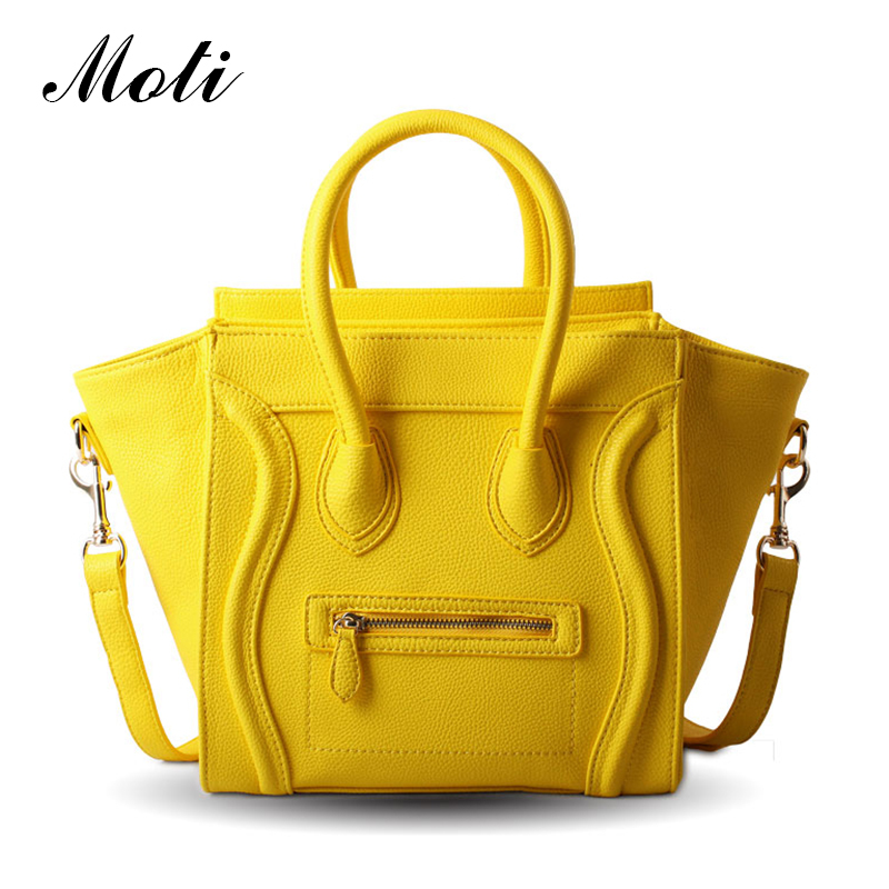 Hot! 2015 Luxury Brand name Designer Classic Nano Solid Color Smiley Cross Body Tote Women Bag, Smile Face Purse lady bag 148(China (Mainland))