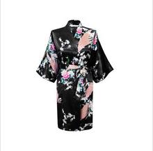 White Sexy Chinese Women Silk Rayon Robe Wedding Bridesmaid Sleepwear V-Neck Kimono Bath Gown Mujer Pajama Plus Size XXXL WR017(China (Mainland))