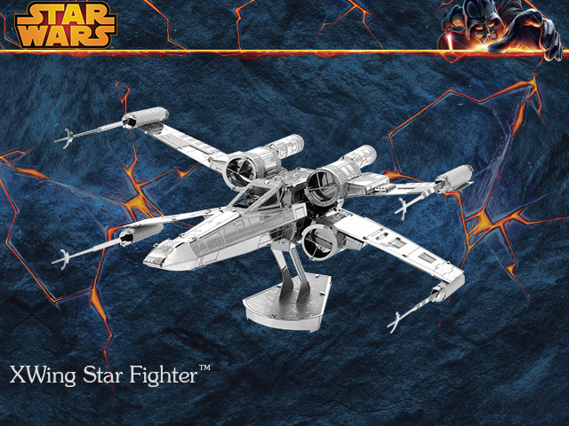 3D metal model X-Wing Star Fighter Star Wars 3D puzzle Wholesale price Stainless steel Etching Childrens gifts Make by hand<br><br>Aliexpress