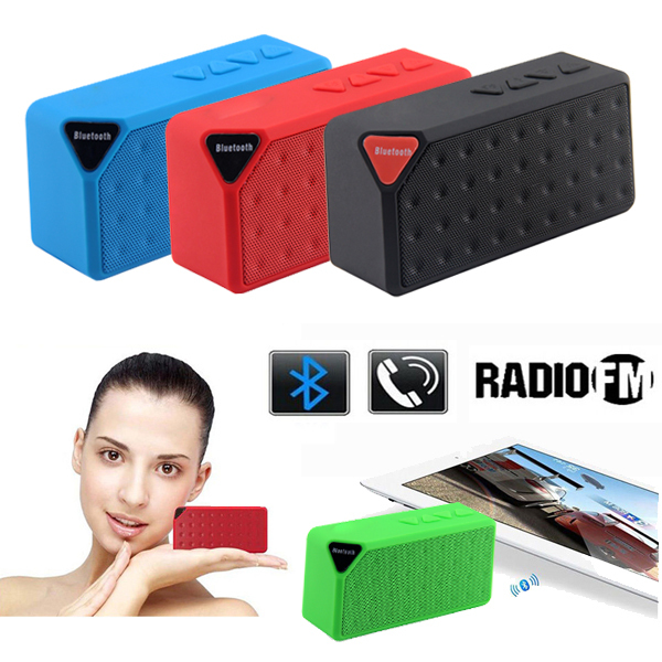 Mini X3 Bluetooth Speaker Portable Wireless Handsfree TF FM Radio Built in Mic MP3 Subwoofer with Detachable Battery 2015 New(China (Mainland))