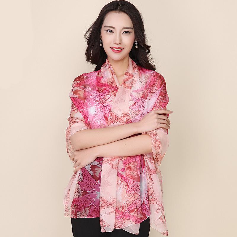 New Listing Fashion Women Chiffon Scarf Shawls Natural Silk Scarves Large Shawl Wrap Print Bikini Sunscreen Pashmina Sale SC068(China (Mainland))