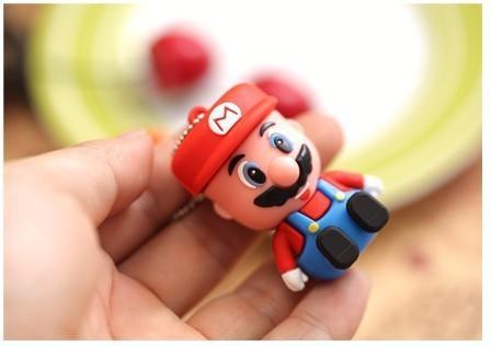 Wholesale cheap Cartoon mini Super Mario model 8GB 16GB 32GB USB Flash Drive Thumb/Car Pen drive 64gb Personality Gift Freeship(China (Mainland))