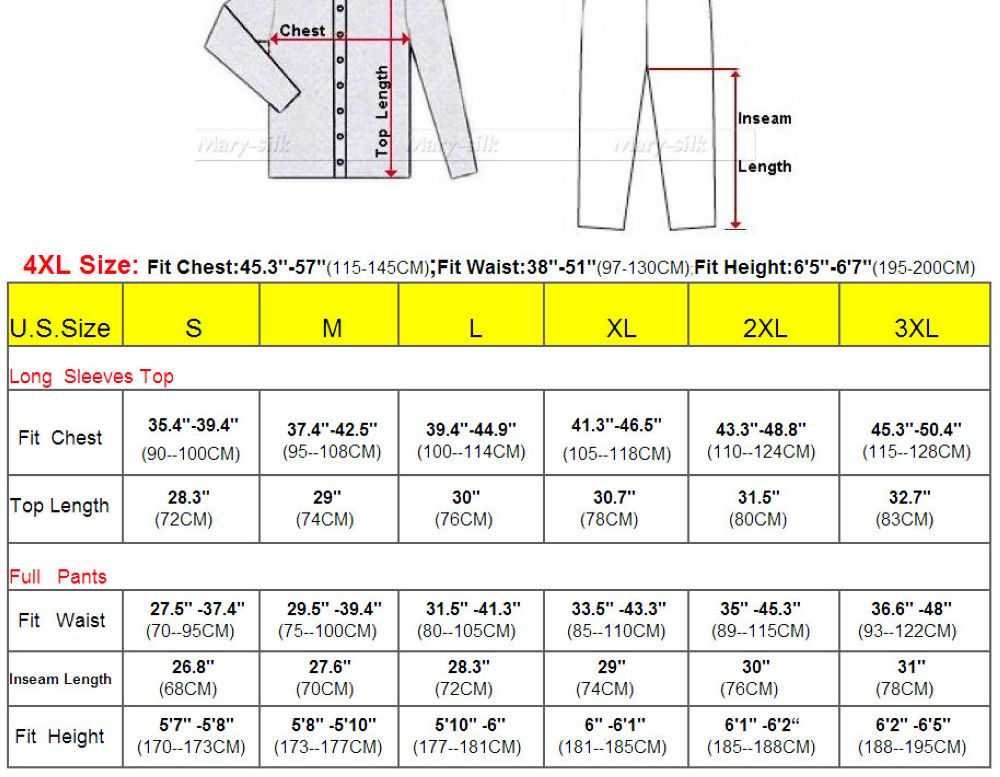 Mens Silk Satin Pajamas Set  Pajama Pyjamas PJS  Sleepwear Set Loungewear  S,M,L,XL,2XL,3XLL,4XL Plus _Free Shipping