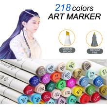 60 Colors Dual Head Sketch Copic Markers Set School Student Drawing Marker Pen Posters manga Design Art Supplies - kml store