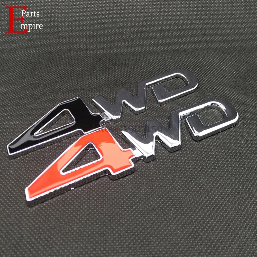 Car Styling Metal 4WD Logo Emblem Badge Sticker Decal Auto Accessories Sport Stickers For Toyota Prado VW Tiguan Jeep Highlander(China (Mainland))