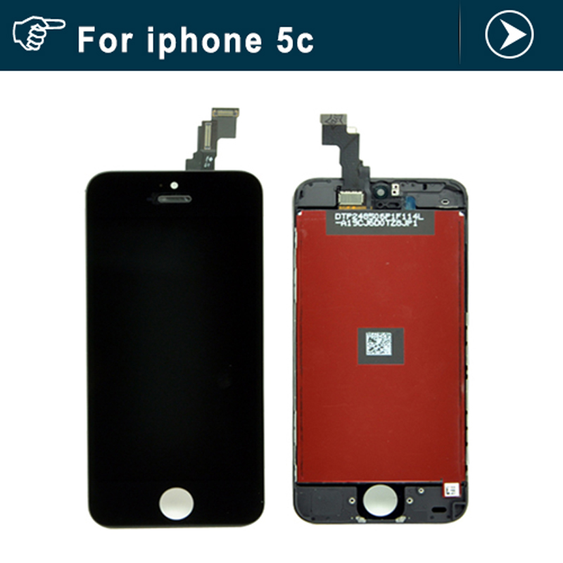 10pcs Lcd with touch digitizer screen assembly For iPhone 5C LCD display with digitizer Frame Black or white