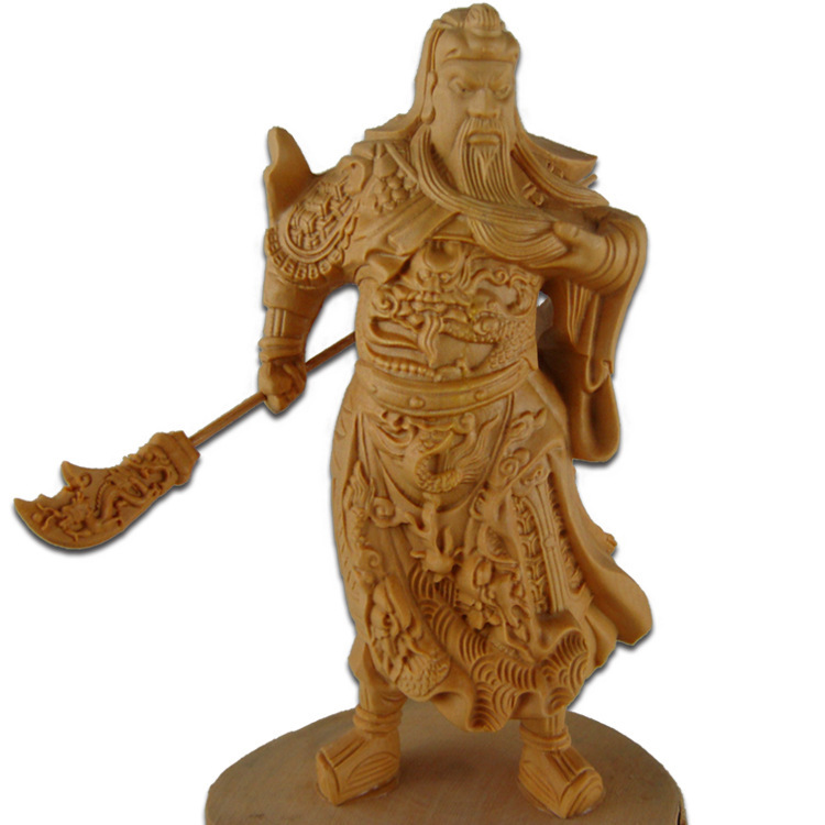Factory direct Yueqing boxwood carvings of Buddha Guan Gong Wu Fortuna car ornaments off Erye wood crafts(China (Mainland))