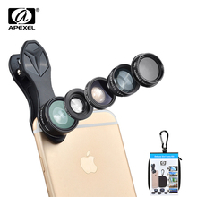 Buy APEXEL HD Camera Lens Kit 5 1 iPhone 6/6s Plus case SE Samsung Galaxy S7/j5 Edge S6/S6 Edge Android Smart Phone for $10.33 in AliExpress store