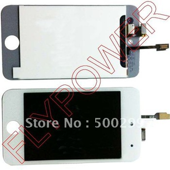 For ipod touch 4 lcd screen with touch digitizer by free DHL, UPS or EMS; 20pcs/lot(China (Mainland))